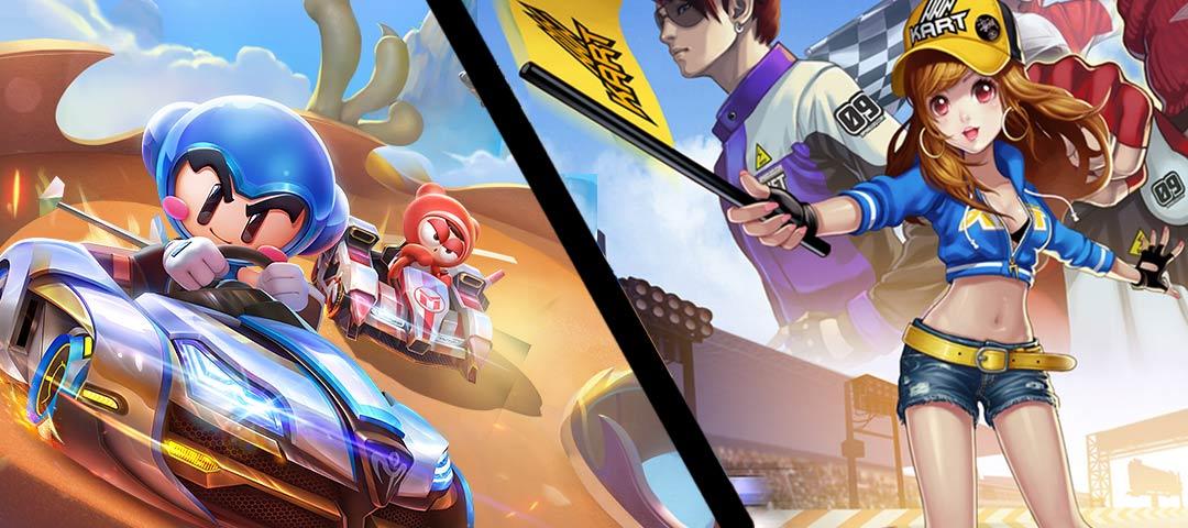 游戏动态:「话题」跑跑卡丁车官方竞速版vsQQ飞车