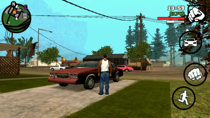 GTA侠盗猎车手 圣安地列斯 车子都撞不坏 安卓应用游戏下载高清图片