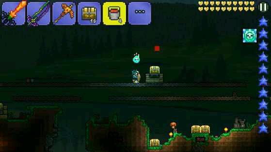 宝箱可以卖钱前期很有用 第1步:做如图1所示的放置方法,让后在箱子里放东西(任何东西) 第2步:用装岩浆的桶在宝箱正上方到岩浆如图2 第3步:(这步很关键!)在岩浆还在空中的时候退出主界面 第4步:重新进去游戏,你会惊奇的发现箱子浮空了,在把岩浆放掉后,在宝箱两边放方块 第7步:在宝箱两边刚放的方块上放入驱动器 第8步:然后连接电路一个简单的刷宝箱装置就完成了如图4 第9步:这种方法比较慢所以把延迟器改为动物驱动的话就更快了 这下新手也应该懂了吧!还有无限TNT大法也是用这个哦~