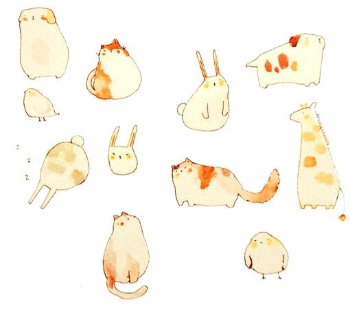 作品中还有许多可爱的小动物