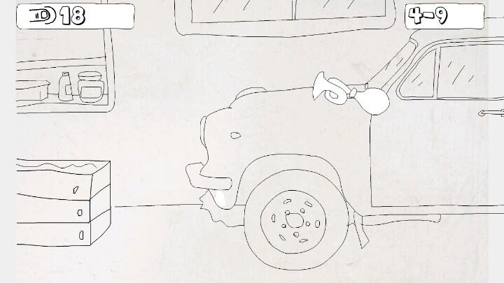 室内柜子手绘线稿